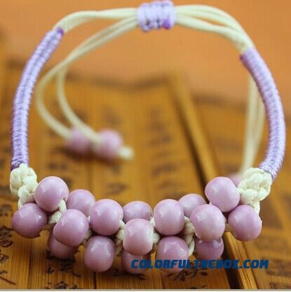 Couple Women Jewelry Jingdezhen Town Hand Made Ceramic Pomegranate Bracelet Bangles