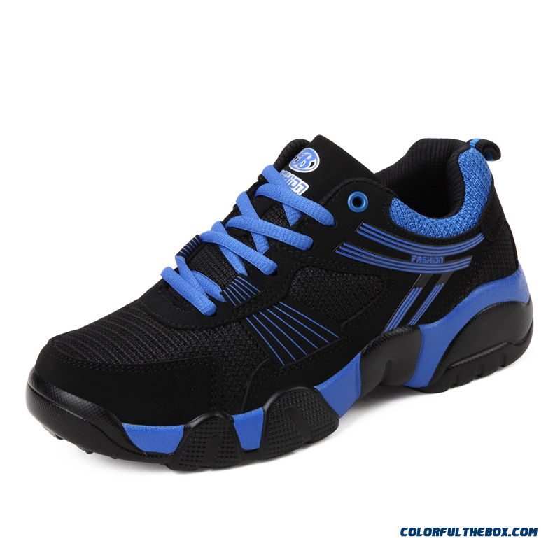 Couple's Shoes Men Basketball Shoes Breathable Antiskid Spell Color