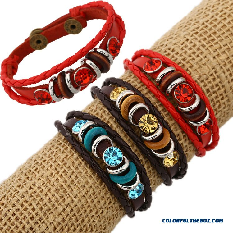 Cowhide Leather Bracelet Ladies Bracelet Jewelry Wholesale Jewelry