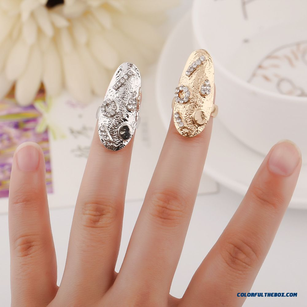 Creative Geometry Stitching Nail Ring Designed Specifically For Elegant Women Jewelry - more images 1