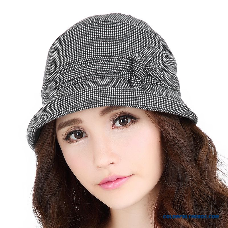 Crimping Fisherman Hat Stylish Millinery Leisure Wool Hats Accessories For Women