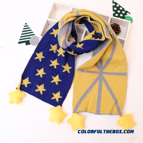 Cute American Flag Union Jack Scarf Kids Accessories Boys And Girls Baby Bib Scarves