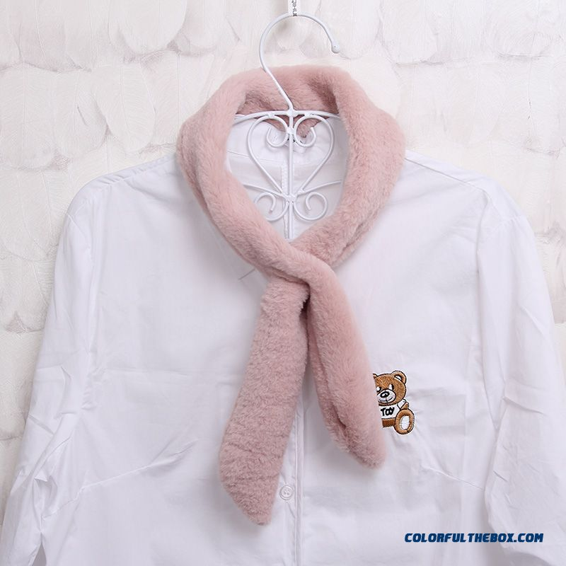 Cute Student Young Women Skin-friendly Leather Fur Winter Scarf Neck Sets Free Shipping