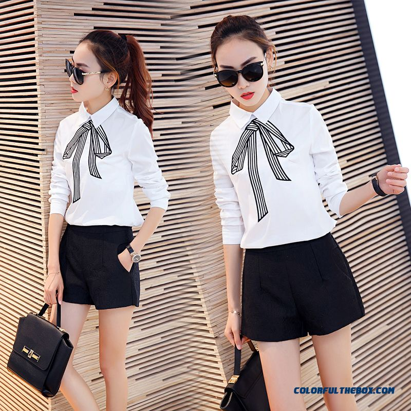 Direct Sales Women Slim Overalls Formal Wear Shirt Plus Size Clothing