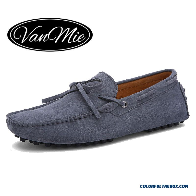 Discount 2016 New Arrival Casual Mens Shoes Suede Leather Men Loafers Moccasins Fashion Low Slip On Men Flats Shoes