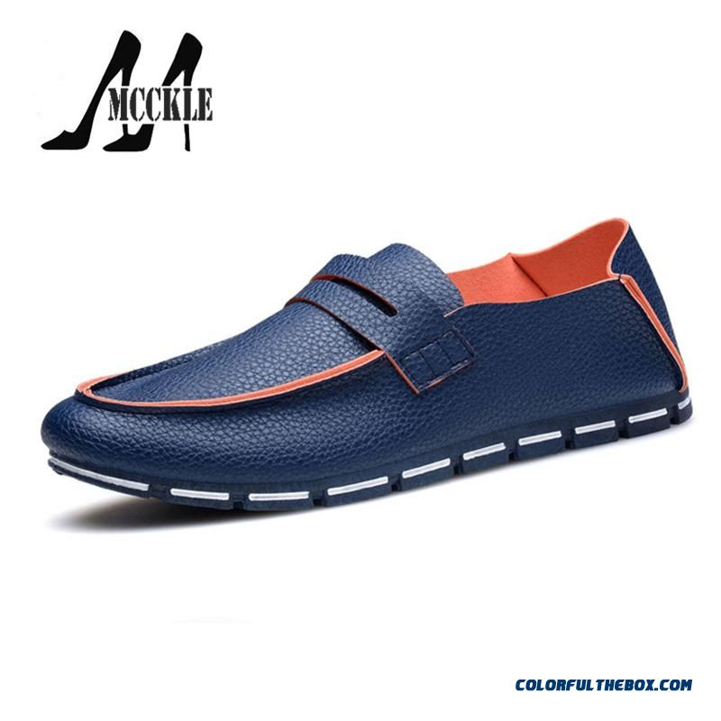 Discount Fashion Loafers Men's Flats Shoes Soft Leather Spring Summer New Adult Casual Shoes Man Simple Style
