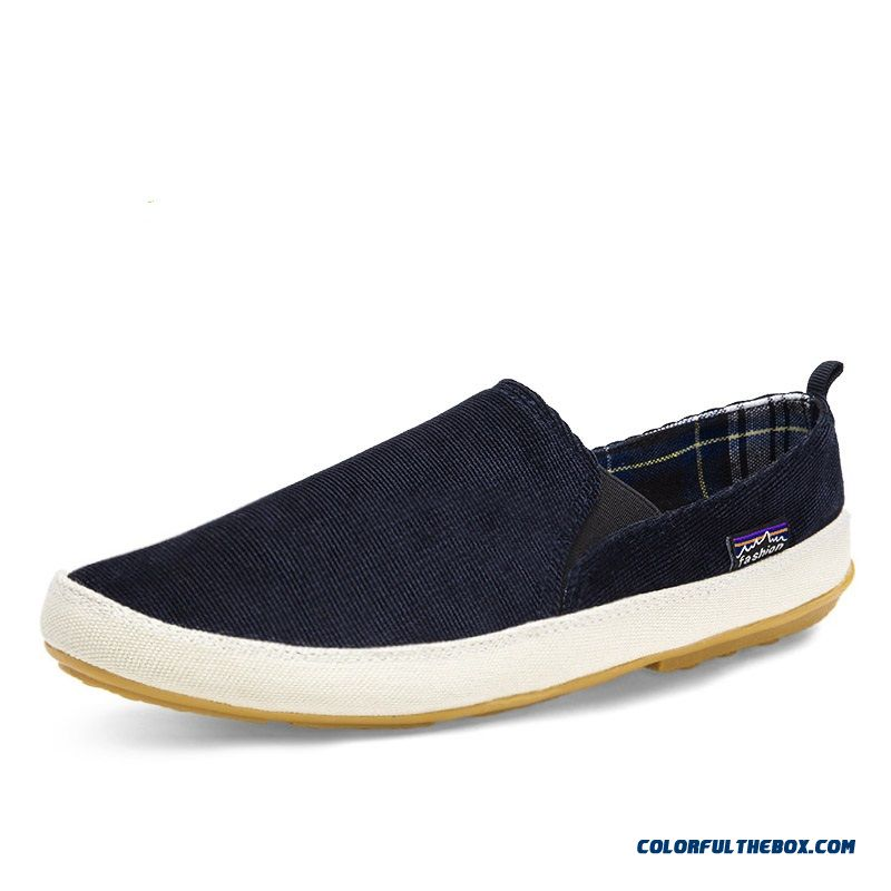 Men's Slip-on Cloth Shoes Casual Fashion Canvas Loafers