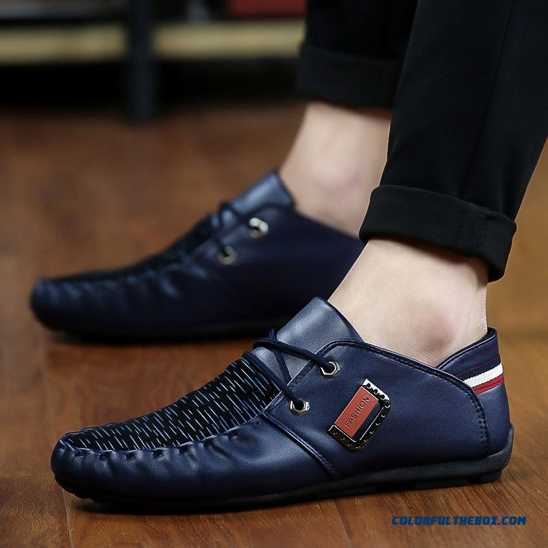 Discount Free Shipping Fashion New 2016 Hot Sale Spring Summer Comfortable Light Men Casual Shoes Breathable Flat Shoes - more images 2