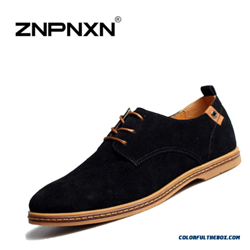 Discount Genuine Leather Oxford Shoes For Men Flats New Spring Summer Comfortable Light Men Casual Shoes Breathable