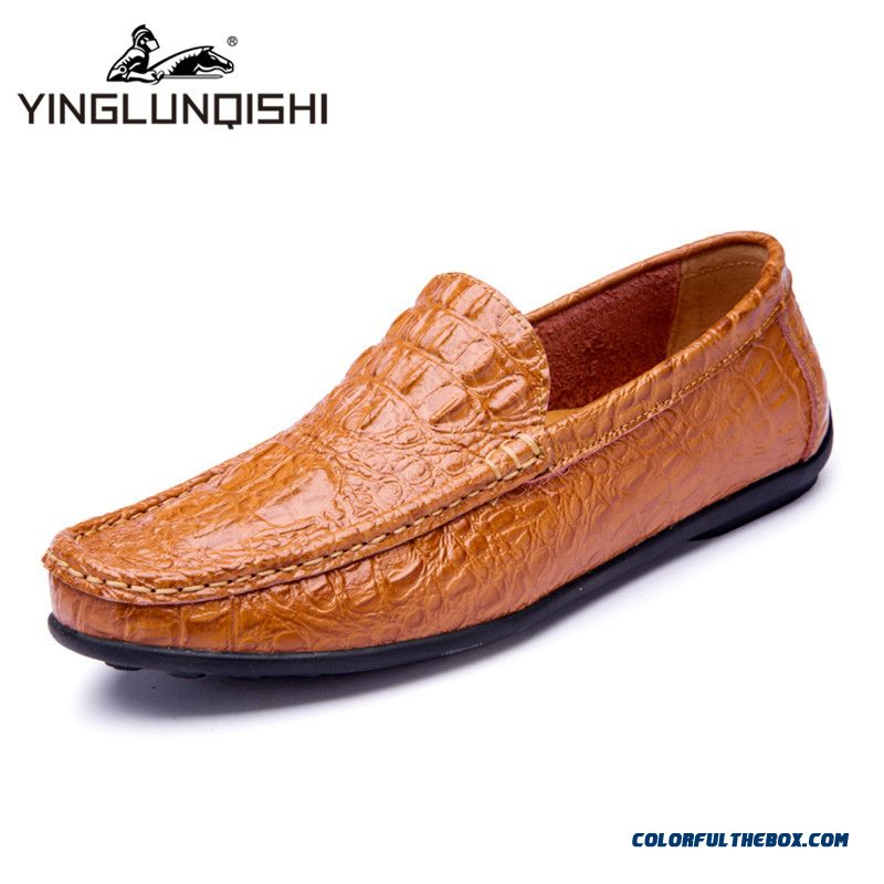 Discount Handmade Leather Men Shoes Moccasins Shoes Men Flats Casual Men Loafers Soft Leather Shoes High Quality
