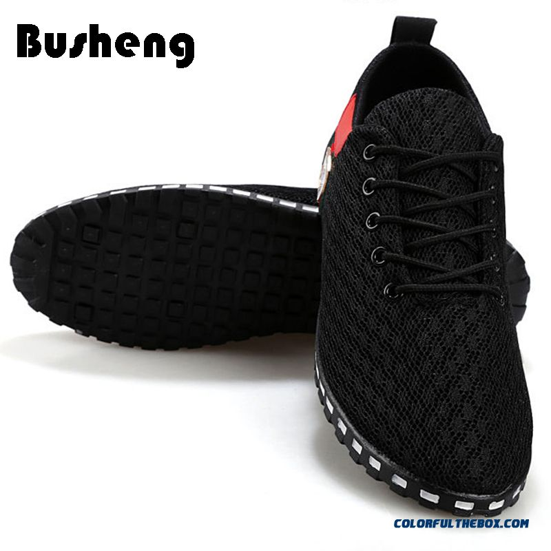 Discount Men Shoes 2016 Mens Trainers Breathable Flats Mesh Black Flat Shoes Man Casual Shoes Tenis Masculino