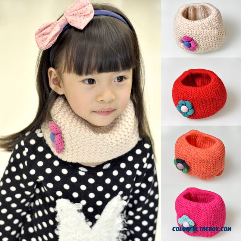 Double Warm Winter All-match Girl Pull Head Neck Wrap Good Elasticity Scarves Kids Favorite Accessories