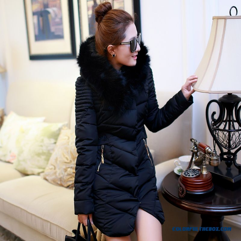 Down Girls Long Down Coat 2015 Winter New Plus Size Women Loose Thick Coat