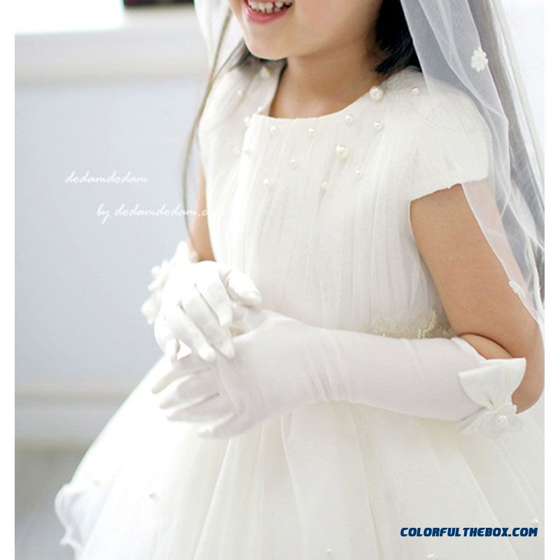 Dresses Child Kids Wedding Dress Princess Dress Girls Costumes Accessories Ladies Gloves 淑女手套