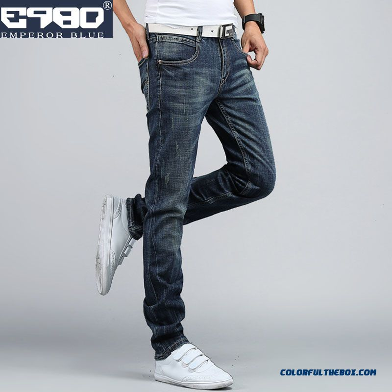 Elastic Casual Men Skinny Jeans Slim Winter Clothing On Sale