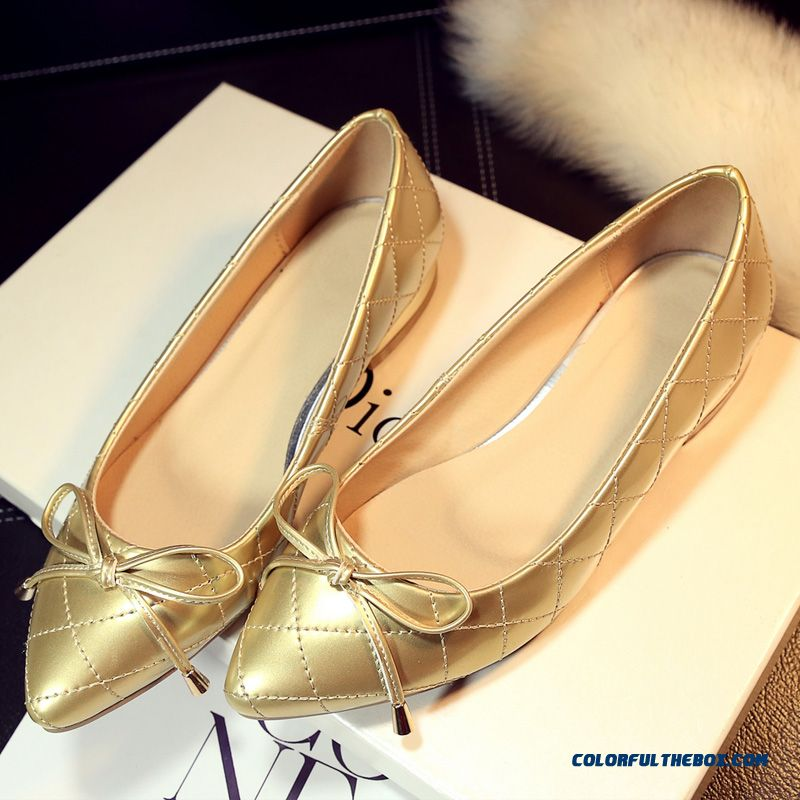 Elegant And Comfortable Flat Shoes Pointed Shoes Shallow Mouth Women