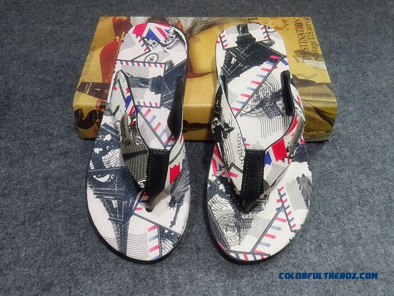 England Style Edition Men's Flip Flops Summer Free Shipping Shoes
