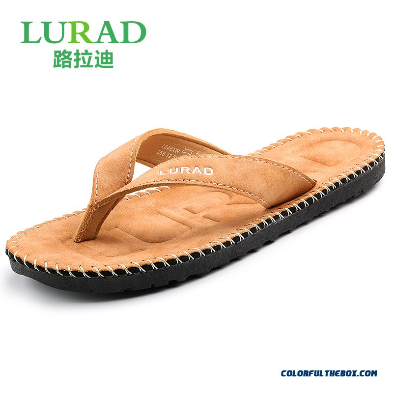 England Style Men's Slippers Wear Resistant Antiskid Beach Shoes Tide
