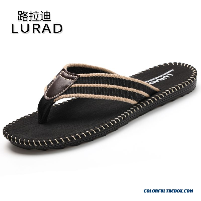 England Style Of Men's Slippers New Summer Breathable And Antiskid
