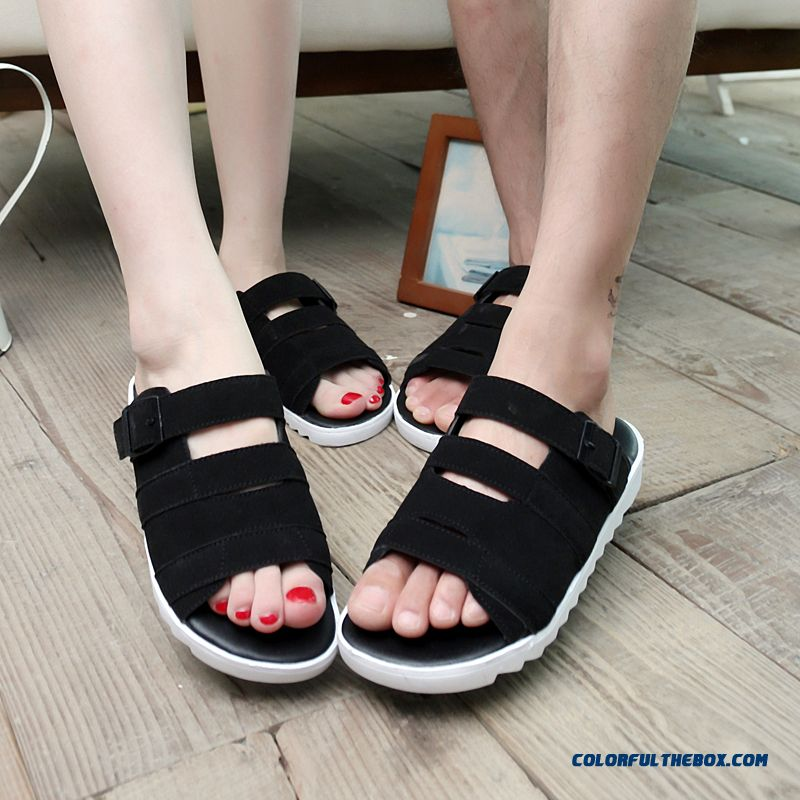 England Style Of New Summer Men's Casual Slipper Couple Shoes