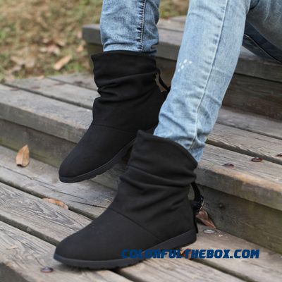 England Youth Trend Men's Short Warm Snow Boots Genuine Leather Shoes