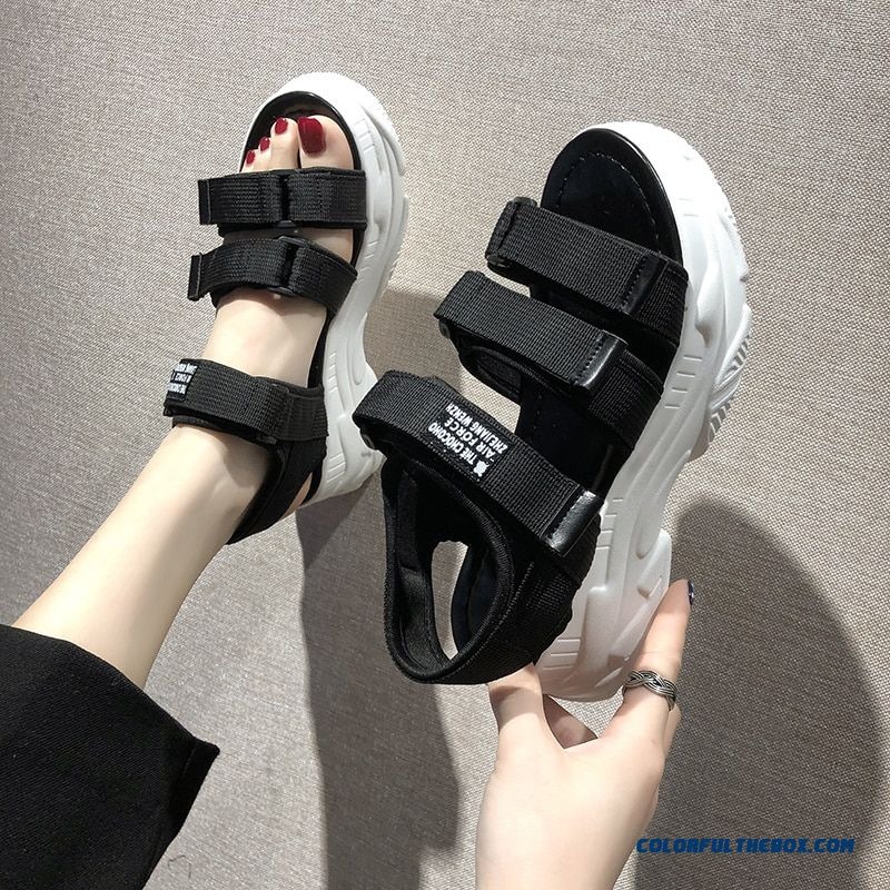 Ernestnm Gladiator Platform Women's Sandals 2019 Summer Fashion Women Chunky Beach Sandal Denim Comfortable Sandalias Mujer