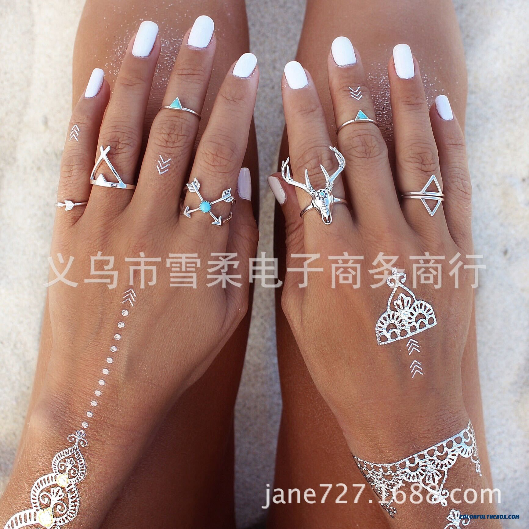 Ethnic Style Metal Heavy Industry Exaggeration Deer Head Ring Jewelry Free Shipping For Women - more images 3