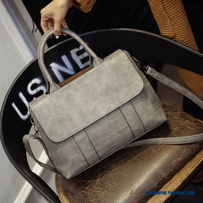 Europe Station Crocodile Retro Women Bag Fashion Shoulder Bags Populary In Europe
