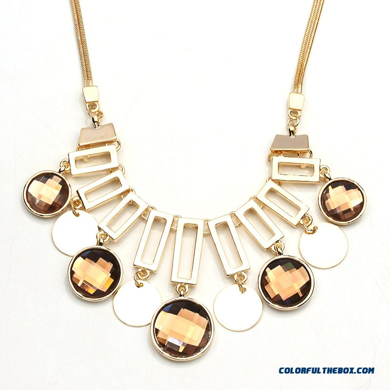 European And American Korean Style Jewelry Wholesale Crystal Necklace Fine Jewelry Special Offer For Women