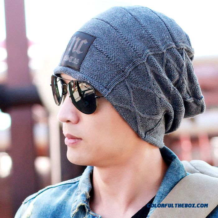 European And American Sports Style Men's Double Knitted Wool Cap Anti-snow Hats Accessories For Men
