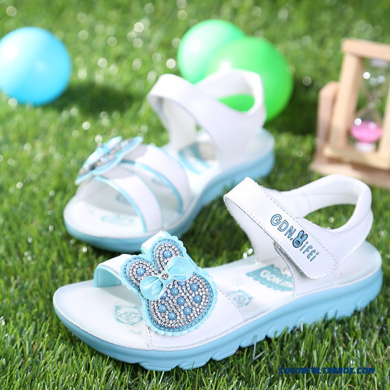 Exclusive Design Shoes Newest Open Toe Cowhide Girls Sandals Kids Summmer Breathable Shoes