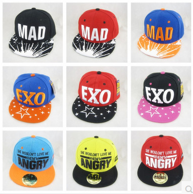 Exo Summer Baseball Cap Boys And Girls Hip Hop Cap Flat-brimmed Hats Sunscreen Planet Hip-hop For Kids