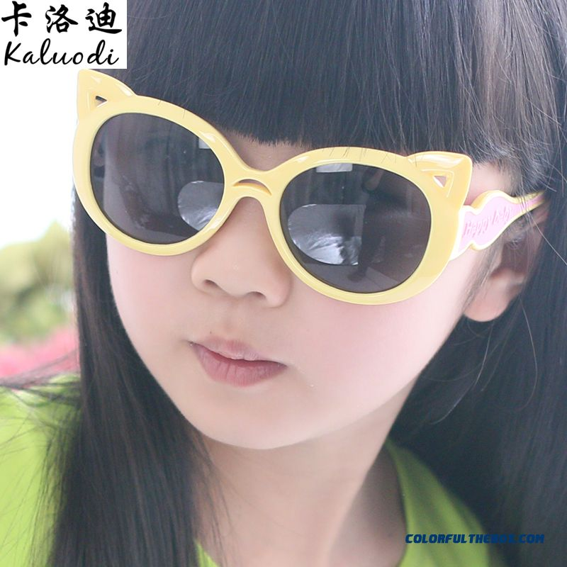 Factory Direct Sales Children Kids Glasses Sunglasses Polarizer Dark Glasses Cat Girls And Boys Uv Protection Glasses Accessories