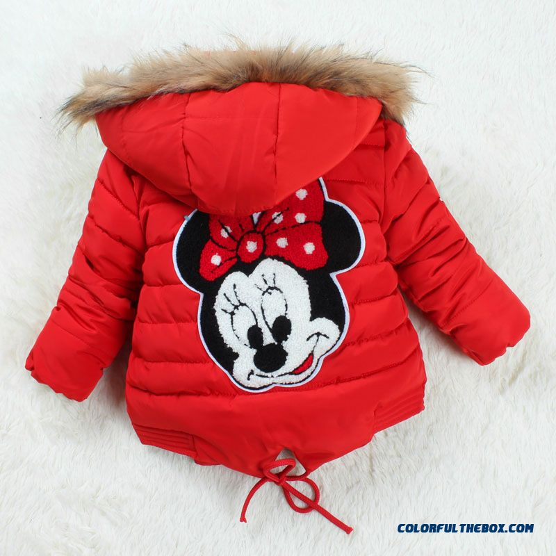 Factory Outlets New Winter Coat Girls Cotton Kids Mitch Coat Red Pink Blue Clothing