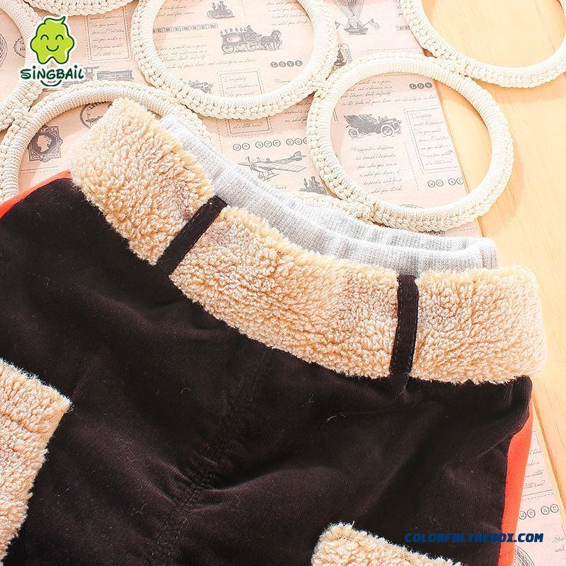 Factory Outlets Singbail Winter Plus Thick Velvet Baby Keep Warm Boys Pants - more images 4