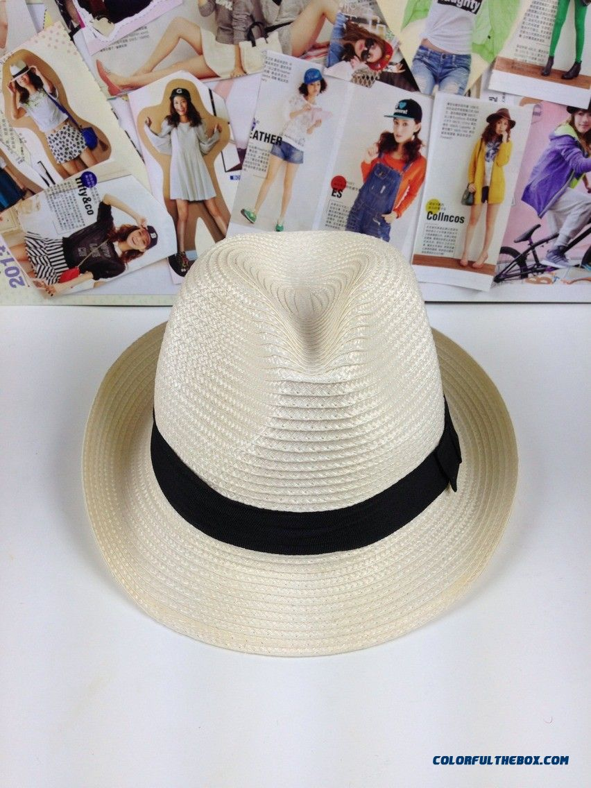 Factory Wholesale Price Men Lady Sun Straw Hat Couples Sunshade Hat Cap Women's Accessories