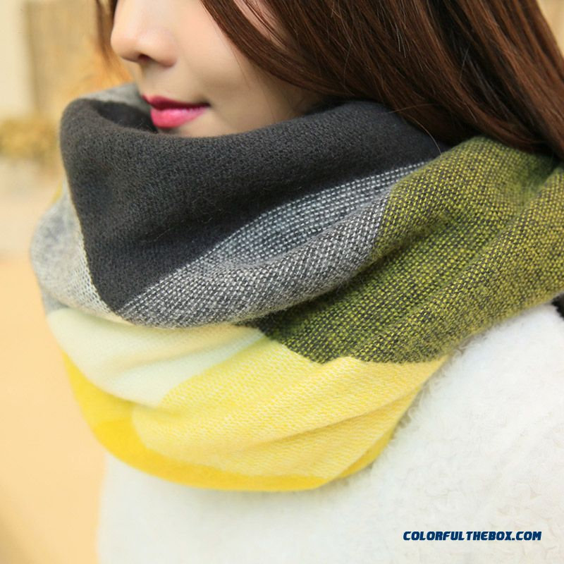 Fall And Winter Super Long Style Thick Plaid Shawl Women Dual-purpose About The Neck About The Neck - more images 4