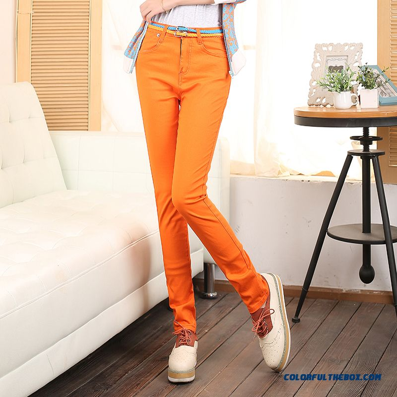 Fall Clothing New Arrival Candy Colored Elastic Pencil Pants Large Size Pants Leggings