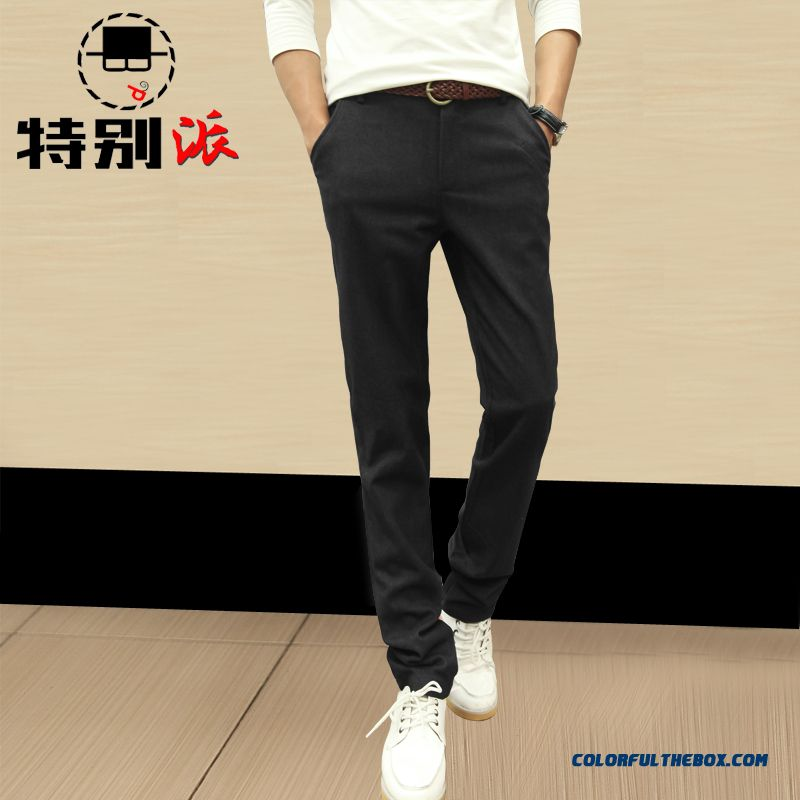 Fall Clothing New Arrival Men's Casual Straight Casual Long Pants Korean Version