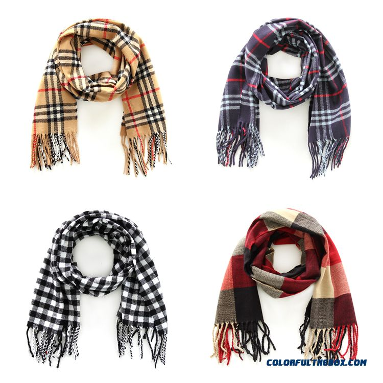 Fashion All-match Kids Scarves 2016 New Genuine Brand Designed For Boys Plaid Neck Scarves Shawl Winter Models - more images 1