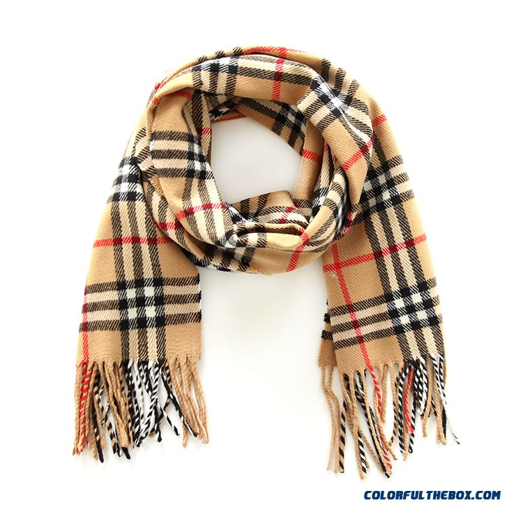 Fashion All-match Kids Scarves 2016 New Genuine Brand Designed For Boys Plaid Neck Scarves Shawl Winter Models - more images 2
