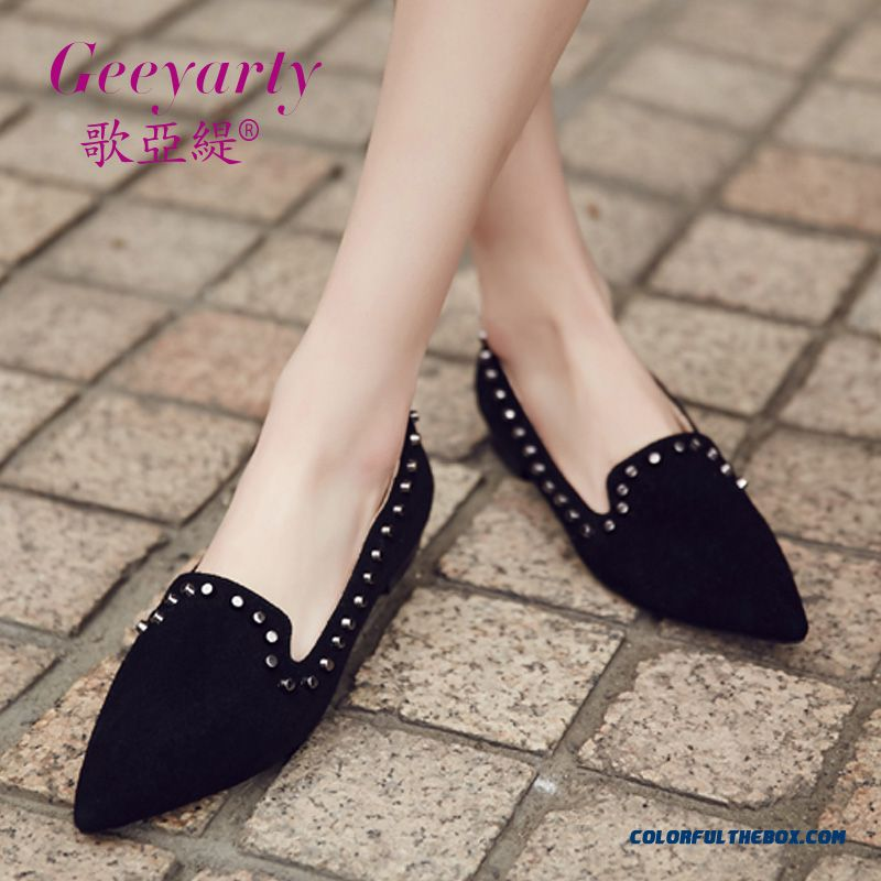 Fashion Elegant Rhinestones Comfortable Women Shoes Pointed Shallow Mouth Flats