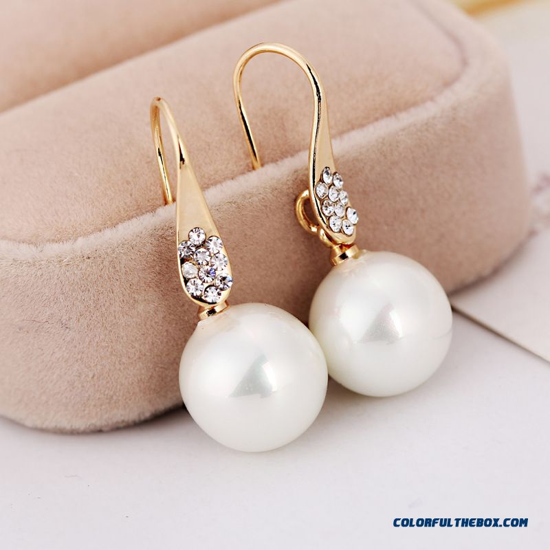 Fashion Gold Plated Rhinestone Diamond Earrings Pear Hypoallergenic Women Ear Jewelry