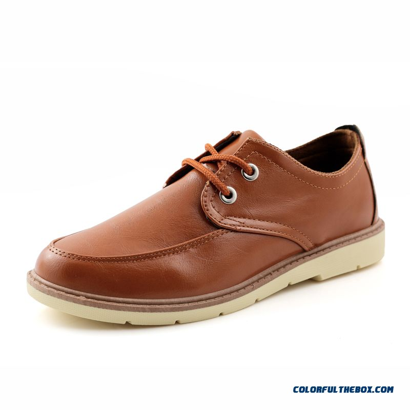 Fashion Korean Version Of Men Leather Shoes Casual Breathable