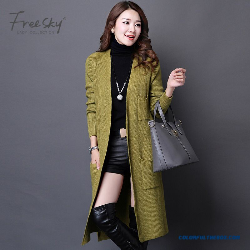 Cheap Fashion Long Cardigan Women Sweater Coat Jacket Sale Online