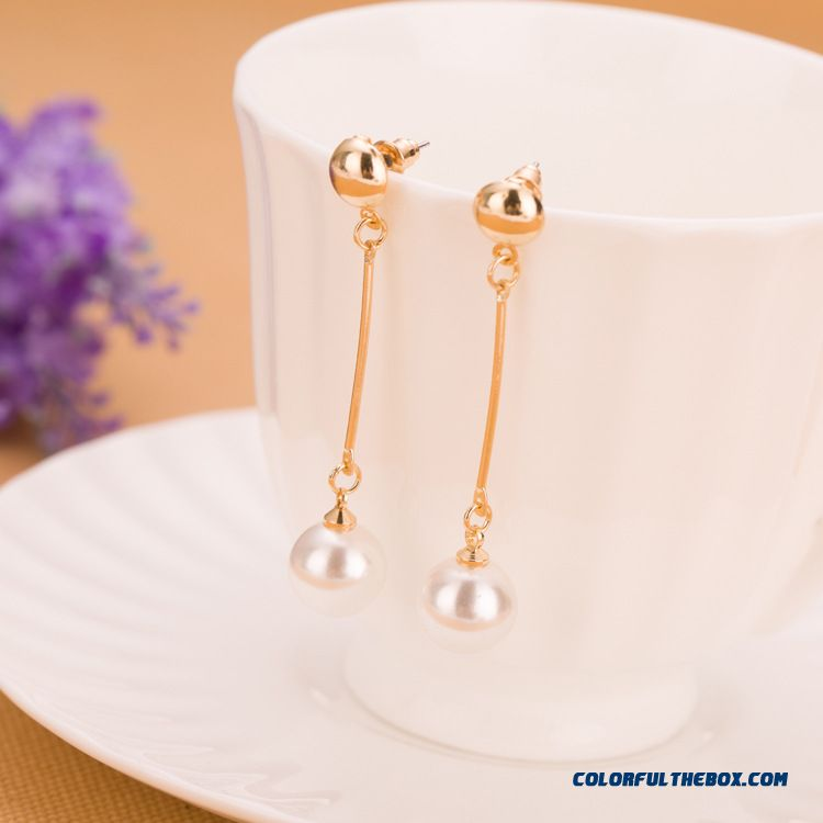 Fashion Long Tassel Pearl Women Earrings Jewelry