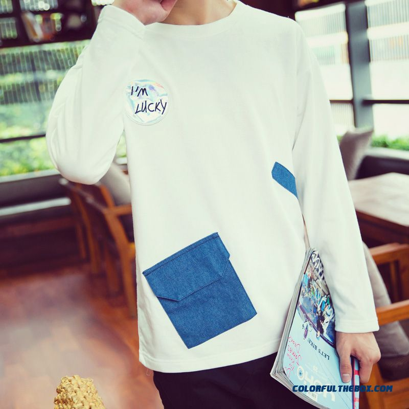 Fashion New Arrival Pocket Pullover Crew Neck Sweatshirts Men's Clothing