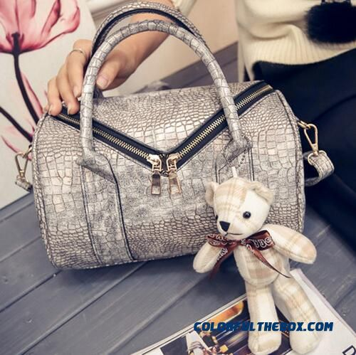 Fashion Pearl Crocodile Embossed Bags Casual Women Top-handle Bags