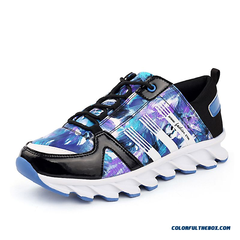 Fashion Printing Antiskid Breathable Sports Men Casual Shoes