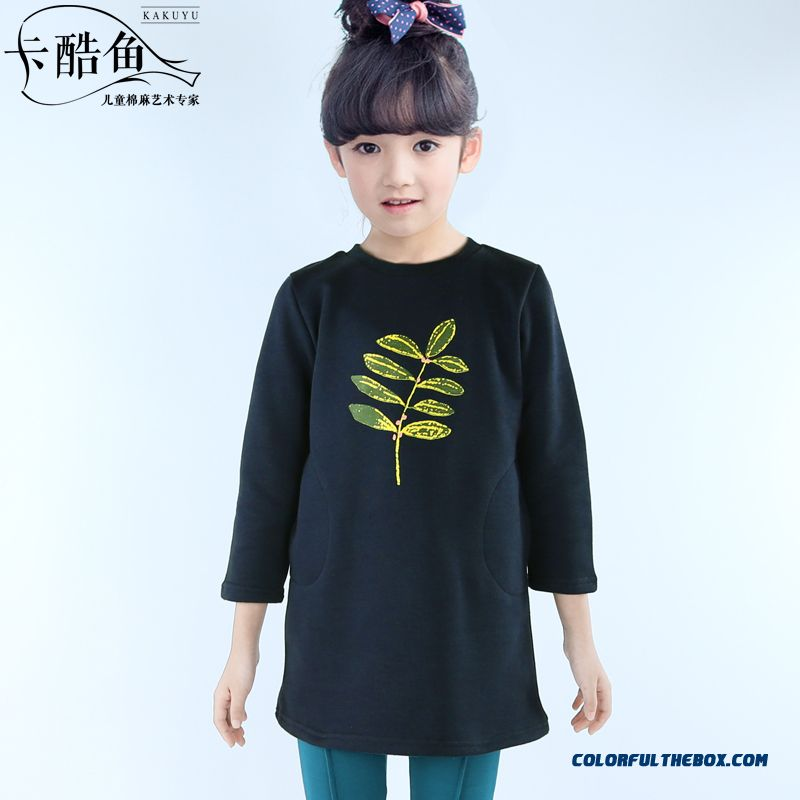 Fashion Printing Oldeer Kids Long Sweatshirts Dress Design For Girls